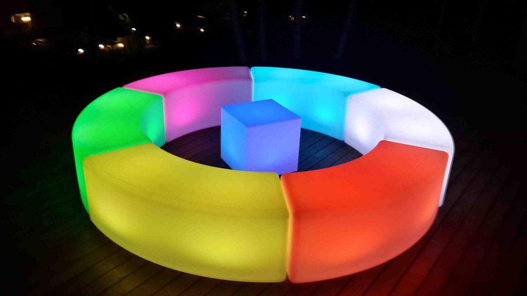 LED Curved Bench Set