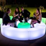 Led Curved Bench for hire cape town